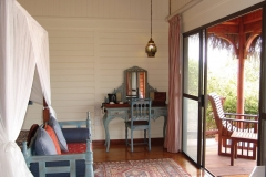 Chalet interior and deck view